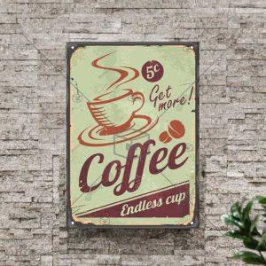 تابلوی خاص و وینتیج رنگی قهوه
