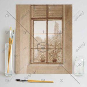 تابلوی نقاشی پنجره رو به پارک اثر Caspar David Friedrich