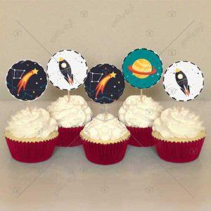 تاپر غذا طرح فضا و فضاپیما