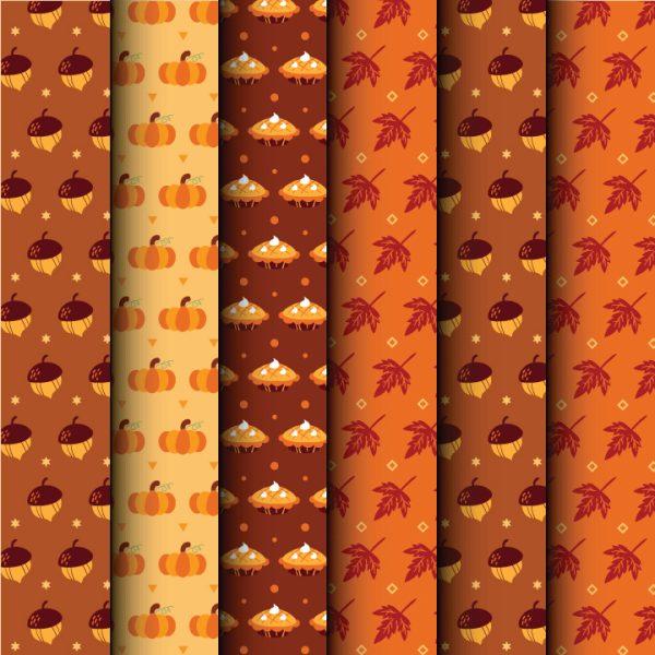 پک اسکرپ بوک   مجموعه پاییزی طرح کدو تنبل و بلوط