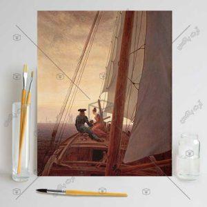 تابلوی قدیمی نقاشی عرشه کشتی اثر Caspar David Friedrich
