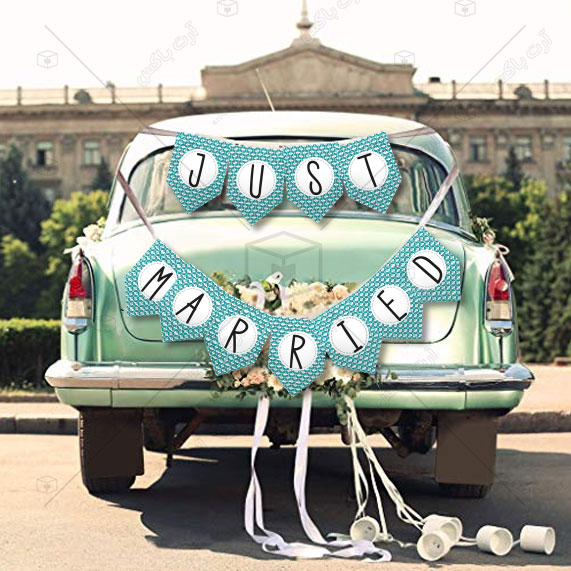 ریسه تزئین ماشین عروس طرح گاتا
