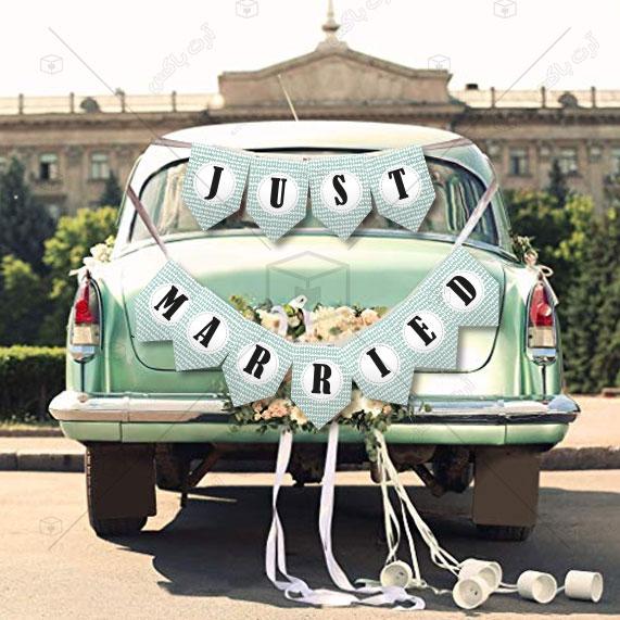 ریسه تزئین ماشین عروس طرح کاویش