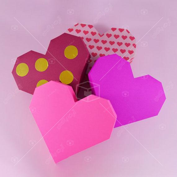 الگوی ساخت جعبه قلبی زاویهدار