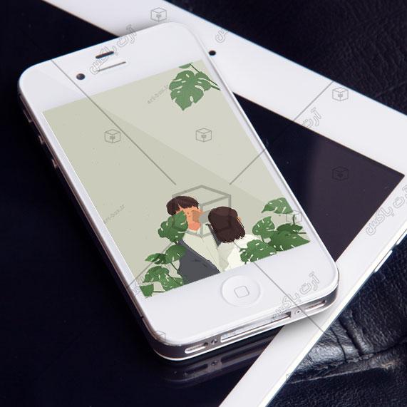 والپیپر گوشی   عاشقانه سبز