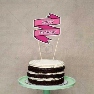 بنر تزیین کیک تولد