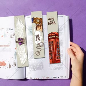 بوک مارک و نشانگر کتاب طرح انگلیس