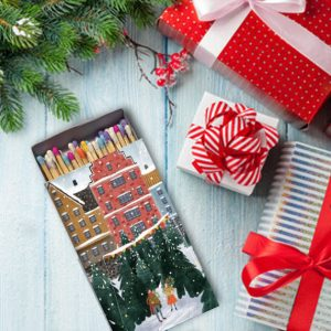 کبریت طرح خرید درخت کریسمس